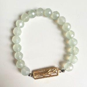 Satya stretch bracelet, like new. jade, tree
